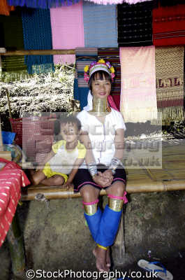 woman long neck people thailand indiginous asian travel asia thai