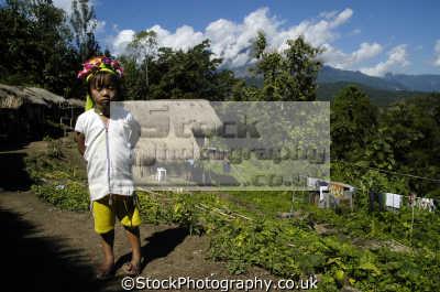 child long neck people thailand indiginous asian travel asia thai