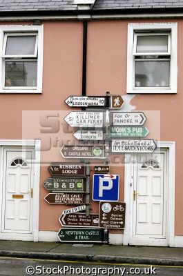 road signs galway ireland irish towns european travel directions republic eire irland irlanda europe
