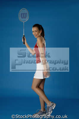 girl badminton racket sports sporting uk