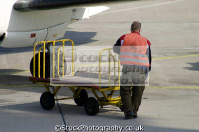 baggage handler plane uk airports aviation airfield aircraft transport transportation