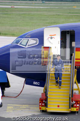 ground staff refuelling aeroplane uk airports aviation airfield aircraft transport transportation