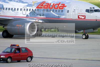 lauda air jet aircraft runway uk airports aviation airfield transport transportation aoroplane