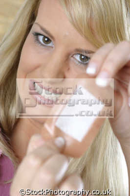 applying sticking plaster personal hygiene hygienic health cuts aid