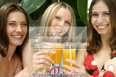 women drinking orange juice people eating nutrition human activities persons