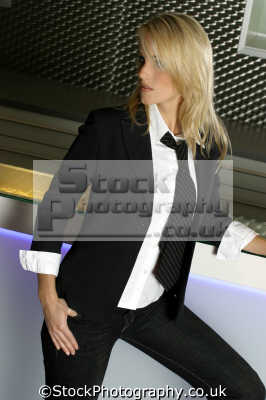 blonde mens suit tie female sexuality sexually attractive attraction women woman females feminine womanlike womanly womanish effeminate ladylike people persons cross dressing