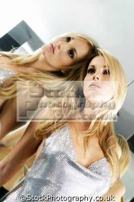 blonde mirror reflection blondes pigment pheomelanin yellow colour color women woman female females feminine womanlike womanly womanish effeminate ladylike people persons