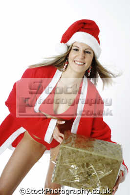 bikini santa gifts claus saint nicholas father christmas xmas yuletide misc. presents