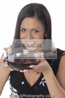 woman bowl grape juice eating nutrition human activities people persons