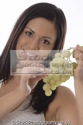 woman grapes eating nutrition human activities people persons