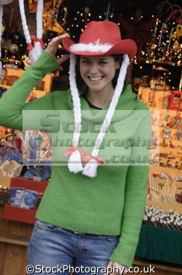 woman silly hat costumes costumed people persons