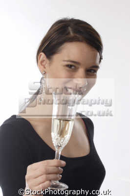 teenage girl champagne glass drinking alchohol people eating nutrition human activities persons celebrate