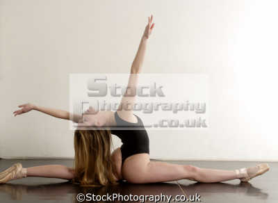 female ballet dancer dancers ballerinas arts misc. leotard pose tiptoe