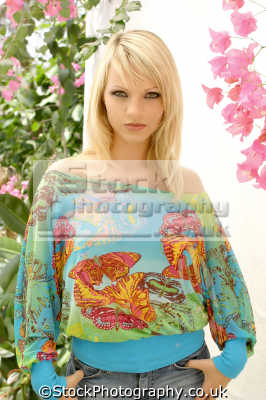 woman clourful printed fashion haute couture chic designer people persons