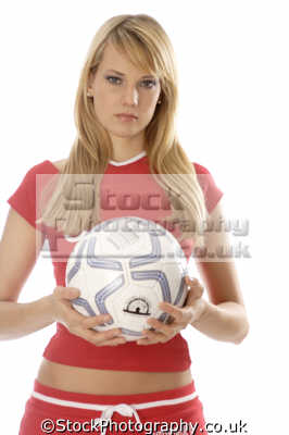 girl red sports outfit football soccer sporting uk