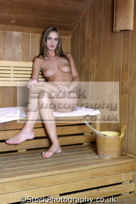 naked woman sauna sitting white towel nude women bathing body bare nudity nakedness sexual naturism female sexuality sexually attractive attraction females feminine womanlike womanly womanish effeminate ladylike people persons steam hot heat vasodilation finnish scandinavian