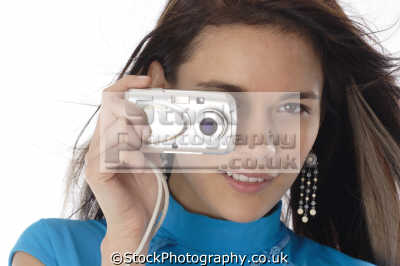 teenage girl digital camera taking pictures photography imaging arts misc.