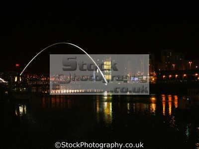 millennium bridge newcastle. uk bridges rivers waterways countryside rural environmental night tyne gateshead baltic arts warf newcastle-upon-tyne newcastle upon tyne newcastleupontyne geordies geordy northumberland northumbrian england english great britain united kingdom british