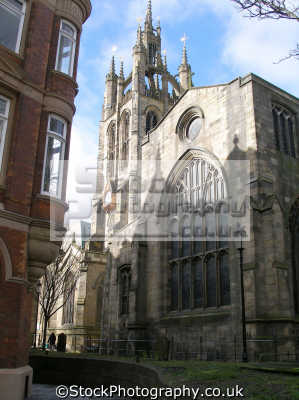 amen corner st nicholas cathedral newcastle-upon-tyne newcastle upon tyne newcastleupontyne uk cathedrals worship religion christian british architecture architectural buildings church yard lantern tower geordies geordy northumberland northumbrian england english great britain united kingdom
