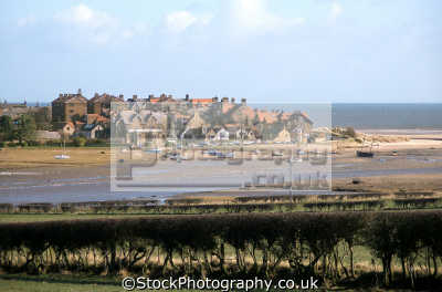 looking river aln pretty village alnmouth northumberland. uk rivers waterways countryside rural environmental friary saint francis estuary harbour beach northumberland northumbrian england english great britain united kingdom british