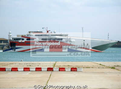 catamaran arriving dover. boats marine misc. english union jack calais ferry boat dover kent england great britain united kingdom british