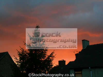 slightly spooky red sky taken staffordshire moorlands. natural history nature misc. stormy portentious ruddy ominous staffs england english great britain united kingdom british