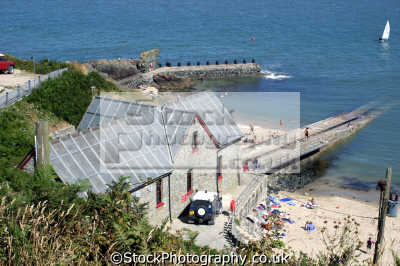 life boat station porth dinll en north wales uk. uk coastline coastal environmental snowdonia morfa nefyn rnli dinllaen slipway gwynedd welsh país gales great britain united kingdom british