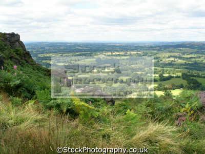 cheshire plain countryside rural environmental uk sandstone vista heather bracken farmland england english great britain united kingdom british