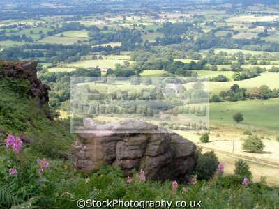 cheshire plain congleton cloud. countryside rural environmental uk vista sandstone heather farmland england english great britain united kingdom british