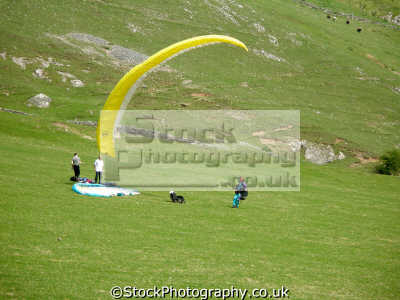 hang gliders bunker hill dove dale. staffordshire derbyshire borders. gliding extreme sports adrenaline sporting uk isaac walton river pennine peak district park england english great britain united kingdom british