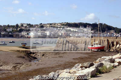 fishing village appledore torridge estuary taken instowe near bideford devon. uk coastline coastal environmental east water river beach low tide devon devonian england english great britain united kingdom british
