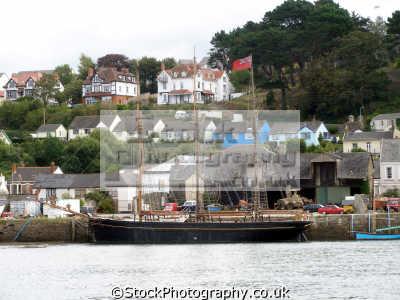 sailing ship torridge estuary bideford devon uk. uk coastline coastal environmental river barque barquentine red ensign merchant devonian england english great britain united kingdom british