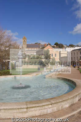 fountains torquay uk parks gardens environmental devon devonian england english great britain united kingdom british