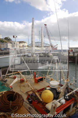 marina torquay fishing boats marine misc. devon devonian england english great britain united kingdom british