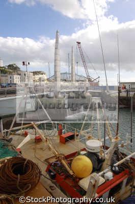 marina torquay fishing boats marine misc. devon devonian england english great britain united kingdom british
