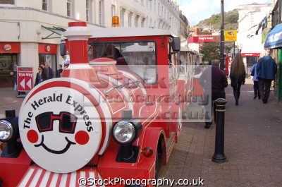 herald express train torquay town centre uk towns environmental devon devonian england english great britain united kingdom british