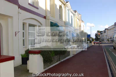guest houses torquay uk terraced british housing homes dwellings abode architecture architectural buildings devon devonian england english great britain united kingdom