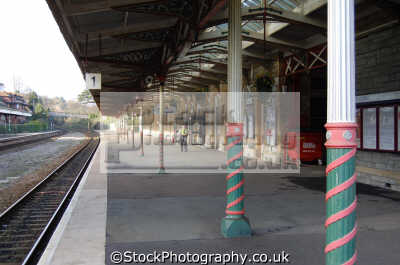 torquay station platform uk railway stations railways railroads transport transportation devon devonian england english great britain united kingdom british