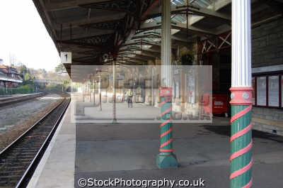 torquay station platform uk railway stations railways railroads transport transportation devon devonian england english great britain united kingdom british