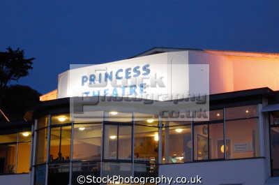princess theatre night uk theatres theater theatrical venues british architecture architectural buildings torquay devon devonian england english great britain united kingdom