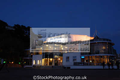 princess theatre night uk theatres theater theatrical venues british architecture architectural buildings torquay devon devonian england english great britain united kingdom