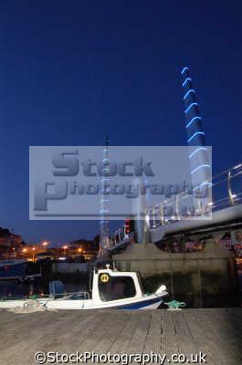 marina night torquay uk coastline coastal environmental devon devonian england english great britain united kingdom british