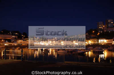 seafront night torquay uk coastline coastal environmental devon devonian england english great britain united kingdom british