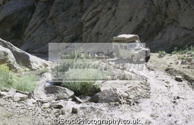 land rover series iii river bed central route minaret jam. beds route. afghanistan asia off-road off road offroad motoring driving motor cars automobiles transport transportation uk miinaret jam afgh... afganistan afganistani