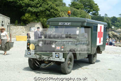 land rover ambulance 1960 1970 british army armies uk military militaries wwii ww2 cornwall cornish england english great britain united kingdom
