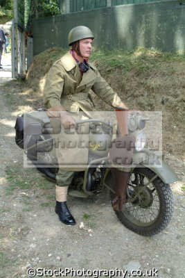 world war dispatch rider harley davidson motobike british army armies uk military militaries wwii ww2 motorcycle cornwall cornish england english great britain united kingdom
