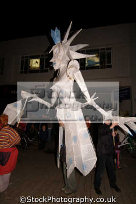 truro festival lights paper mache mannequin south west towns england southwest country english uk papier cornish cornwall great britain united kingdom british