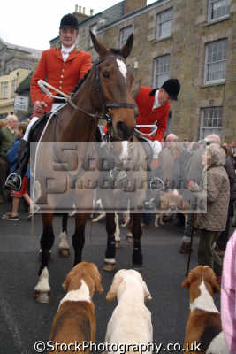 crowds helston xmas hunt fox hunting blood banned sports sporting uk cornwall cornish england english great britain united kingdom british