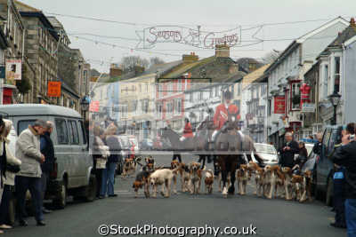 heslston hunt riding town fox hunting blood banned sports sporting uk hounds helston cornwall cornish england english great britain united kingdom british