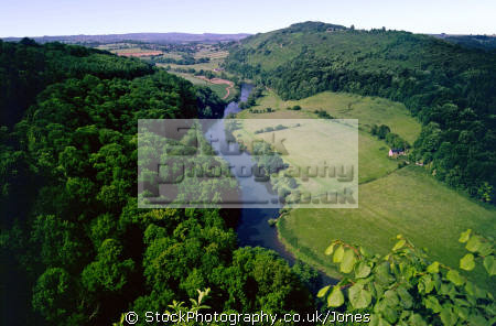 symond yat river wye countryside rural environmental uk limestone cliffs peregrine falcon wooded valley herefordshire england english great britain united kingdom british